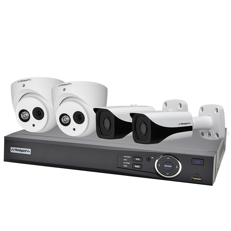 Watchguard NVR4COMPACK Compact 4 Channel 2.0MP IP Surveillance Kit