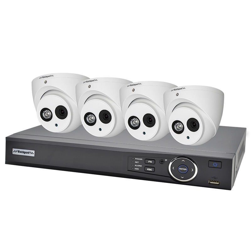 Watchguard NVR4COMPACKD Compact 4 Channel 2.0MP IP Surveillance Kit