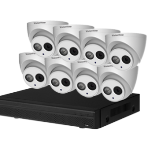 VISIONVIEW 4 CHANNEL 4MP IP SURVEILLANCE KIT