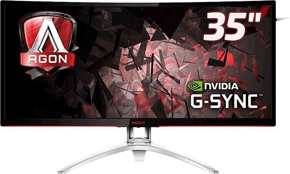 """AOC MNAO-AG352UCG6 AGON 35"""" VA IPS-Type 4ms 120Hz G-Sync Curved Gaming Monitor"""