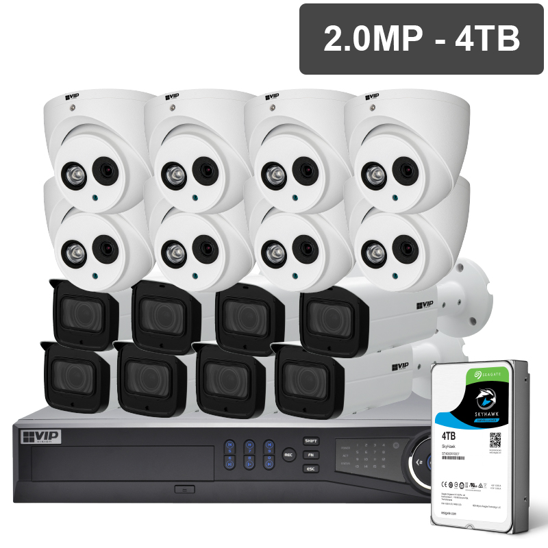 VIP NVRKIT-P1624F Pro Series 16 Camera 2.0MP IP Surveillance Kit