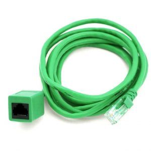 8Ware CB8W-KO820U-2F RJ45 Male to Female Cat5e Network/ Ethernet Cable 2m Green - Standard network extension cable