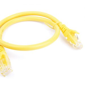 8Ware CB8W-PL6A-0.5YEL Cat6a UTP Ethernet Cable 0.5m (50cm) Snagless Yellow