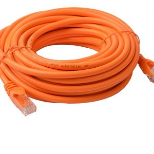 8Ware CB8W-PL6A-10ORG Cat6a UTP Ethernet Cable 10m Snagless Orange