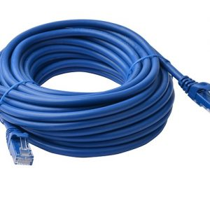 8Ware CB8W-PL6A-15BLU Cat6a UTP Ethernet Cable 15m Snagless Blue