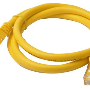 8Ware CB8W-PL6A-1YEL Cat6a UTP Ethernet Cable 1m Snagless Yellow