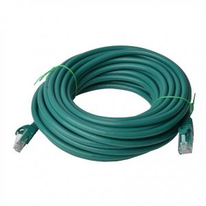 8Ware CB8W-PL6A-20GRN Cat6a UTP Ethernet Cable 20m Snagless Green