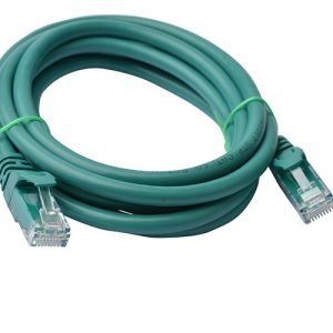 8Ware CB8W-PL6A-2GRN Cat6a UTP Ethernet Cable 2m Snagless Green