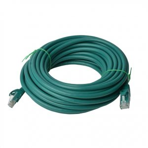 8Ware CB8W-PL6A-50GRN Cat6a UTP Ethernet Cable 50m Snagless Green