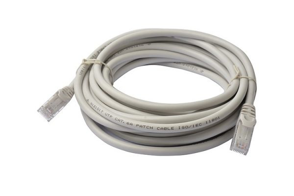 8Ware CB8W-PL6A-5GRY Cat6a UTP Ethernet Cable 5m Snagless Grey