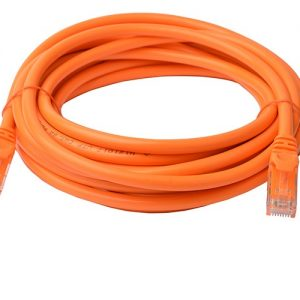 8Ware CB8W-PL6A-5ORG Cat6a UTP Ethernet Cable 5m Snagless Orange