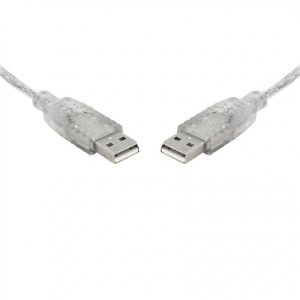8Ware CB8W-UC-2005AA USB 2.0 Cable 5m A to A Transparent Metal Sheath UL Approved