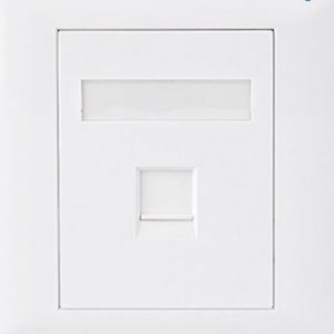 Astrotek CBA-SC-5E-1 CAT5e RJ45 Wall Face Plate 86x86mm 1 Port Socket Kit