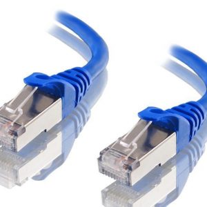 Astrotek CBAT-CAT6ABLU1M CAT6A Shielded Cable 1m Blue Color 10GbE RJ45 Ethernet Network LAN S/FTP LSZH Cord 26AWG