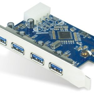 Astrotek CBAT-U3PCICARD 4x Ports USB 3.0 PCIe PCI Express Add-on Card Adapter 5Gbps Windows XP/7/8/10 Server 2008 & later Renesas 720201 Chipset ~USSUN-USB4300NS