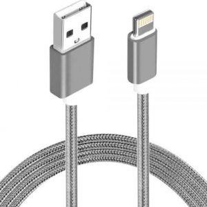 Astrotek CBAT-USBLIGHTNINGW-2 2m USB Lightning Data Sync Charger Grey White Color Cable for iPhone 7S 7 Plus 6S 6 Plus 5 5S iPad Air Mini iPod