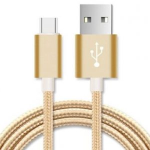 Astrotek CBAT-USBMICROBG-3M 3m Micro USB Data Sync Charger Cable Cord Gold Color for Samsung HTC Motorola Nokia Kndle Android Phone Tablet & Devices