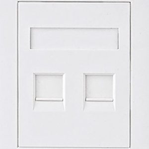Astrotek CBATP-SC-6-2 CAT6 RJ45 Network Wall Face Plate Outlets 86x86mm 2 Port Socket Kit LS