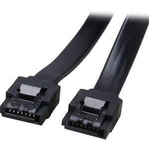 Astrotek SATA 3.0 Data Cable 30cm 7 pins Straight to 7 pins Straight with Latch Black Nylon Jacket 26AWG