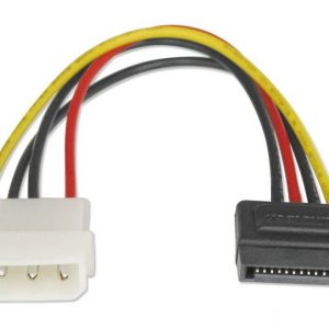 Astrotek SATA Power Cable 15cm 4 pins Male to 15 pins Female 18AWG RoHS LS