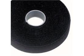 Cabac CBC-VT25BK-25M 25mmx25m Roll Black back to back grip for CAT6 Pro Cable Tie LS