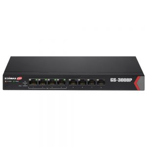 Edimax NWE-GS-3008P Long Range 8-Port Gigabit Web Managed Switch with 4 PoE+ Ports