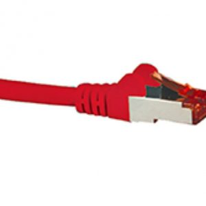 Hypertec CBNC-HCAT6ARD3 CAT6A Shielded Cable 3m Red Color 10GbE RJ45 Ethernet Network LAN S/FTP Copper Cord 26AWG LSZH Jacket