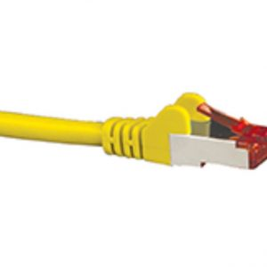 Hypertec CBNC-HCAT6AYL0.5 CAT6A Shielded Cable 0.5m Yellow Color 10GbE RJ45 Ethernet Network LAN S/FTP Copper Cord 26AWG LSZH Jacket
