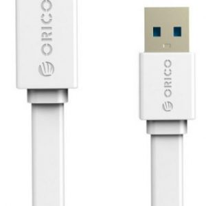 ORICO CBOR-CEF3-WH 1M USB3.0 AM to AF Flat USB Cable - White