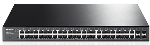 TP-Link NWTL-SG2452P JetStream 48-Port Gigabit Smart Switch with 4 SFP Slots 384W PoE+ 802.1Q VLAN Port Security Storm control