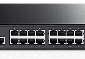 TP-Link NWTL-SG3424 (TL-SG3424) JetStream 24-Port Gigabit L2 Managed Switch with 4 SFP Slots