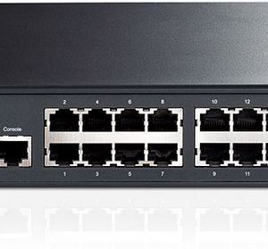 TP-Link NWTL-SG3424P (TL-SG3424P) JetStream 24-Port Gigabit L2+ Managed PoE+ Switch with 4 Combo SFP Slots 384W 56Gbps Switching 41.7Mpps Forward Rate