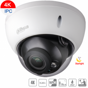 Dahua DH-IPC-HDBW1831RP-S-0280B 8MP(4K) Starlight IP Vand Dome Fixed 2.8mm, ICR, WDR, IR 30m, IP67, POE