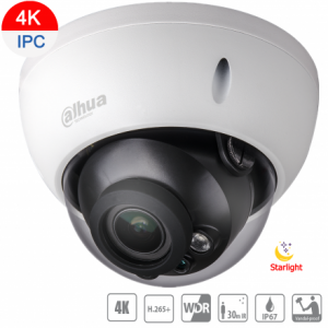 Dahua DH-IPC-HDBW2831RP-ZS-3711 8MP (4K) Starlight IP Vandal Dome Motorized 3.7~11mm,ICR,WDR,IR 30m,IP67,POE