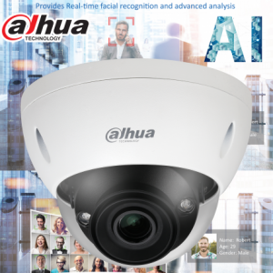 Dahua DH-IPC-HDBW5442EP-ZE-2712 AI 4MP Starlight+ IP Vandal Dome Motorized 2.7mm~12mm, ICR,WDR(140dB), IR 40m, Micro SD,IK10,IP67, DC12V/AC24V, ePOE