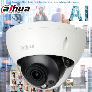 Dahua DH-IPC-HDBW5442RP-S-0280B AI 4MP Starlight+ IP Vandal Dome Fixed 2.8mm,ICR,WDR(140dB), IR 50m, Micro SD,IK10,IP67, POE