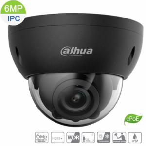 Dahua DH-IPC-HDBW5631RP-ZE-27135-BLK 6MP IP Vandal Dome Black Motorized 2.7~13.5mm, ICR,WDR,IR 50m,IP67,ePOE