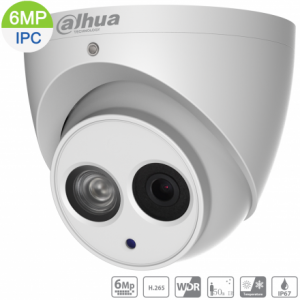 Dahua DH-IPC-HDW1631EM-0280B 6MP IP Turret Fixed 2.8mm, Built-in Mic,ICR,WDR,IR 50m,IP67,POE