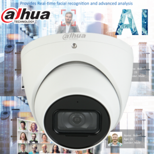 Dahua DH-IPC-HDW5442TMP-AS-0280B AI 4MP Starlight+ IP Turret Fixed 2.8mm, Mic,ICR,WDR(140dB),IR 50m, Micro SD,IP67,POE