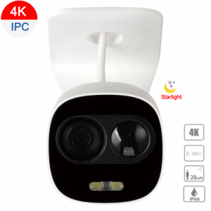 Dahua DH-IPC-HFW1831CP-PIR-0280B 8MP (4K) Starlight IP Mini Bullet Fixed 2.8mm,ICR,WDR,IR 20m+White Light,IP66, POE