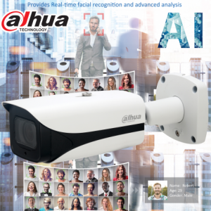 Dahua DH-IPC-HFW5442EP-ZE-2712 AI 4MP Starlight+ H.265 IP Bullet Motorized 2.7mm~12mm, ICR,WDR(140dB), IR 50m, Micro SD,IP67, ePOE