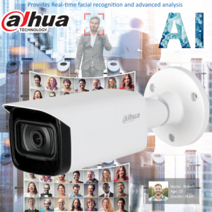 Dahua DH-IPC-HFW5442TP-S-0280B AI 4MP Starlight+ IP Bullet Fixed 2.8mm, ICR, WDR(140dB), IR 50m, Micro SD,IP67, POE