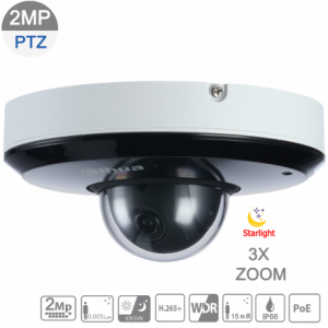 Dahua DH-SD1A203T-GN 2MP Starlight IP PTZ 3X 2.7mm~8.1mm VF lens,ICR,WDR,IR 15m,IP66,POE