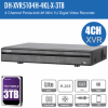 Dahua DH-XVR5104H-4KL-X-3TB 4ch Penta-brid Record Up to 4K,IVS,Face Detection,Smart Serach, Smart Fan,P2P,HDD-3TB installed