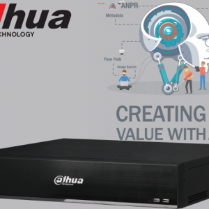 Dahua DHI-NVR5864-I-6TB 64ch AI NVR Record Up to 16MP,2x HDMI(4K)/VGA, Face Capture, Face Recognition, People Counting, ANPR, POS, P2P, HDD6TB installed