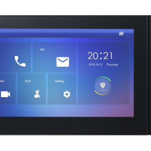 Dahua DHI-VTH2421FB-P 7inch Touch Screen IP Indoor Monitor, Colorful TFT Capacitive LCD, Display resolution: 1024x600, 10/100Mbps Self-adaptive Ethernet TCP/IP, Standard PoE, 6ch Alarm In and 1 Ch Alarm Out, Built-in Loudspeaker, Dual-way Bidirecti