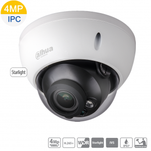 Dahua DH-IPC-HDBW2431RP-ZS-27135-S2 4MP Starlight IP Dome, WDR,ICR,IVS,Motoriszed 2.7~13.5mm, IR 40m, Micro SD, POE,IK10,IP67