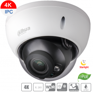 Dahua DH-IPC-HDBW5831RP-ZE-2712 8MP(4K) IP Vandal Dome Starvis Motorized 2.7~12mm,ICR,WDR,IR 50m,IP67,ePOE