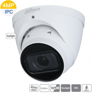 Dahua DH-IPC-HDW2431TP-ZS-S2 4MP Starlight IP Turret Motorised 2.7~13.5mm, IVS, WDR(120dB),IR 40m, Micro SD,IP67,POE