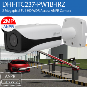 Dahua DHI-ITC237-PW1B-IRZ ANPR 2MP Full HD Powerful 2.7~12mm motorised, ideal for monitor ANPR distance as 3 to 8 m, IP67,DC12V